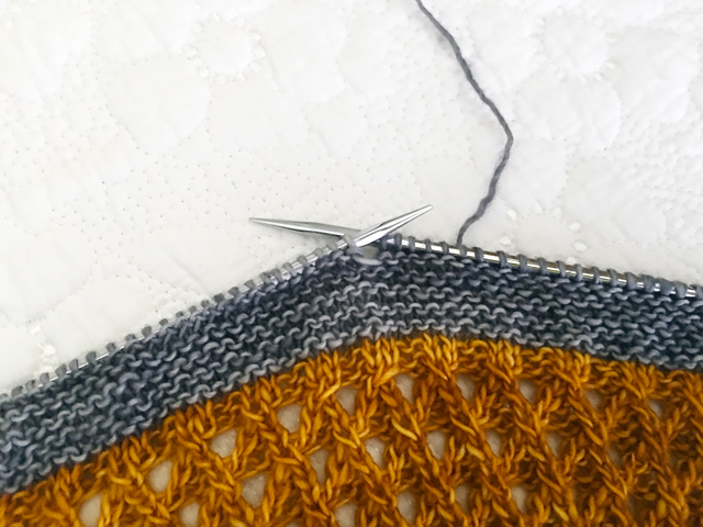 Shawl design in progress | frecklesandpurls.com
