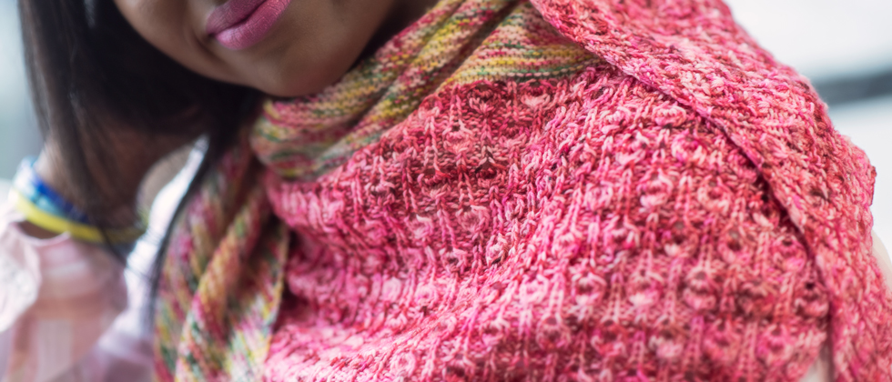 Strawberry Pop Tart shawl